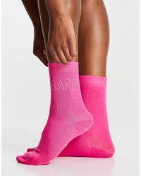 Skinnydip London X Barbie Diamante Logo Socks - Pink
