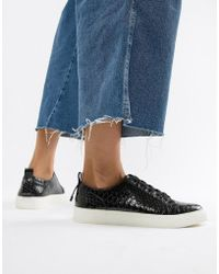 ASOS - Durban Pointed Lace Up Sneakers - Lyst
