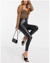ASOS Crocodile Leather Look legging - Black