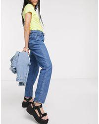 Noisy May - Jeans dritti lavaggio blu medio - Lyst