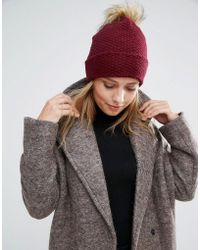 Alice Hannah - Woven Stitch Knit Beanie - Lyst
