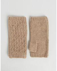 Alice Hannah - Woven Stitch Knit Palm Warmer - Lyst