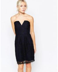 Adelyn Rae - Strapless Lace Dress - Lyst