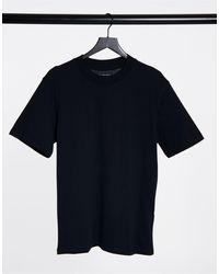 SELECTED T-shirt accollata nera - Nero