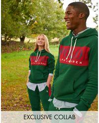 Polo Ralph Lauren X Asos - Exclusieve Samenwerking - Joggingbroek Met Rode Zijstreep En Logo - Groen