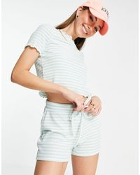 Vero Moda Ribbed Jersey Shorts Co-ord - Multicolour