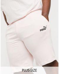 PUMA Светло-розовые Трикотажные Шорты Essentials Plus-розовый