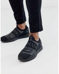 Emporio Armani Черные Кроссовки-носки С Логотипом Arco-черный - Многоцветный
