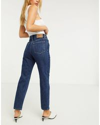 ONLY Fine Straight Leg Jeans With High Waist - Blue