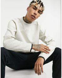 Nike Sudadera blanca con cuello redondo Revival Tech Fleece - Blanco