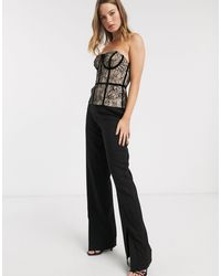River Island Corset Top With Black Piping