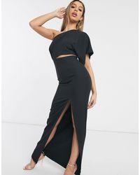 Vesper Maxi Dress With Thigh Split - Black
