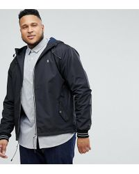 Original Penguin - Plus Lightweight Poly Hooded Jacket In Black - Lyst