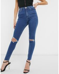 ASOS Ridley High Waist Skinny Jeans - Blue