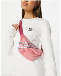 adidas Originals Satin Look Logo Bum Bag - Pink