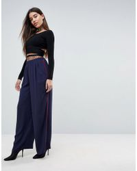 ASOS - Tailored Contrast Piped Track Pant - Lyst