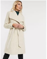 Oasis Wrap Coat With Belt - Natural