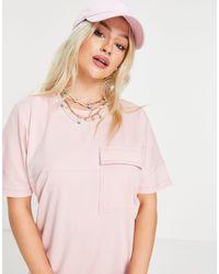 Noisy May Розовое Платье-футболка Миди Из Органического Хлопка Exclusive-розовый Цвет