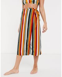 Monki Stripe Sarong Skirt - Multicolor