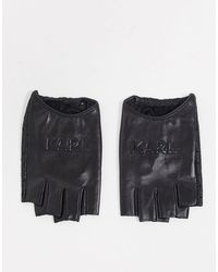 Karl Lagerfeld Черные Перчатки С Тиснением Логотипа -черный