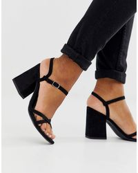 New Look Low Block Barely There Sandal - Black