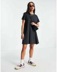 Weekday Teeny Organic Cotton Mini T-shirt Dress - Black