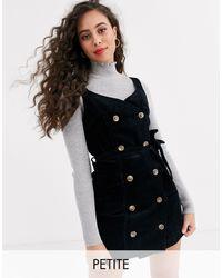 Miss Selfridge – Kleid aus Cord - Schwarz