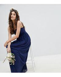 TFNC London - Bandeau Maxi Bridesmaid Dress - Lyst