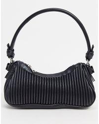 ASOS Pleated 90s Shoulder Bag - Black