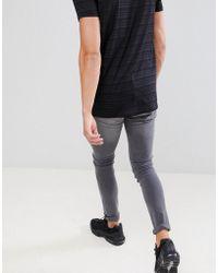 Mennace - Gray Super-skinny Cordoza Jeans - Lyst