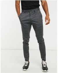 Jack & Jones Intelligence Slim Fit Jersey Trousers - Grey