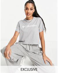 Columbia - Укороченная Футболка Светло-серого Меланжевого Цвета Csc – Эксклюзивно Для Asos-серый - Lyst