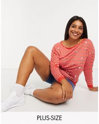 Simply Be Flamingo Sweater - Red