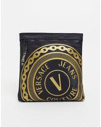 Versace Jeans Couture Черная Сумка С Логотипом -черный Цвет