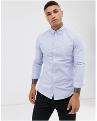 TOPMAN Oxford Shirt - Blue
