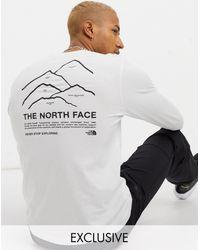 The North Face - Белый Лонгслив Peaks Эксклюзивно Для Asos - Lyst