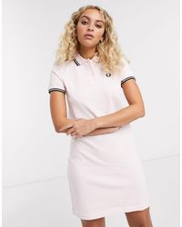 Fred Perry Twin Tipped Polo Dress - Pink