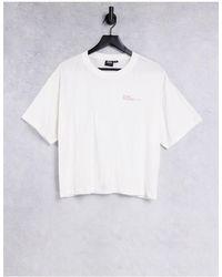 Dr. Denim Crop Tshirt With Logo - White