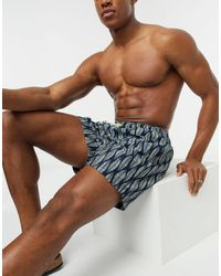 SELECTED Leaf Printed Swim Shorts - Blue