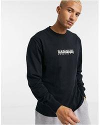 Napapijri Box Logo Long Sleeve T-shirt - Black