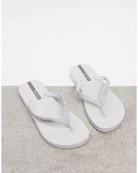 Ipanema Glitter Flip Flop - White