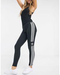 adidas Originals Черные Леггинсы С Логотипом Adicolor Locked Up-черный