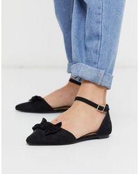 Oasis Bow Detail Pump Shoes - Black