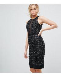 TFNC London - High Neck Mini Scallop Sequin Dress - Lyst