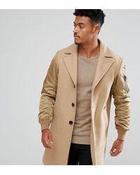 DIESEL - Manteau manches contrastantes - Lyst