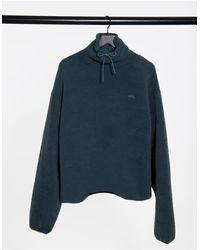 ASOS 4505 Funnel-neck Fleece-grey
