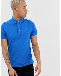 Tommy Hilfiger Slim-fit Poloshirt - Blauw