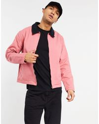 ASOS Giacca harrington di jeans rosa con colletto