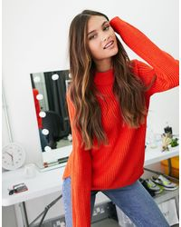 Vero Moda Exclusive Sweater With High Neck - Red