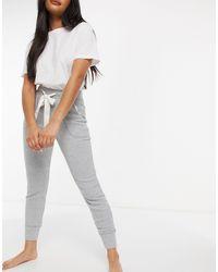 Abercrombie & Fitch Joggers del pigiama comodi, colore grigio